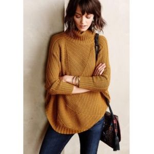 Anthropologie Angel of the North poncho